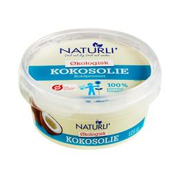 Kokosolie koldpresset Naturli Ø 125 g