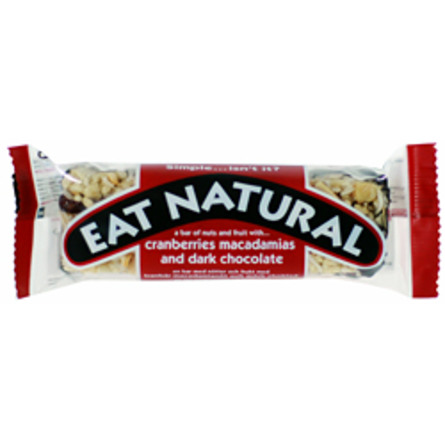 Mørk chokolade med tranebær og macadamia Ea 45 g