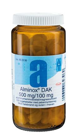 Alminox Tyggetablet 100 stk