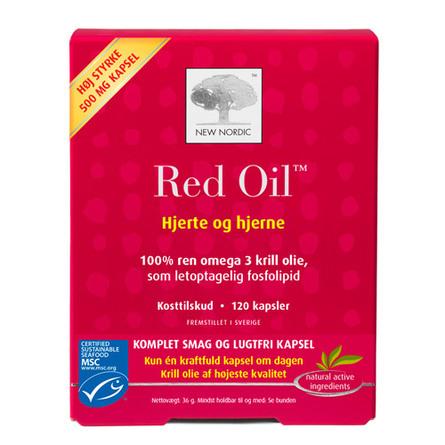 Red Oil omega 3 krill olie 120 kap