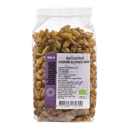 Biogan Rosiner grønne Rawfood Øko 250 gr.