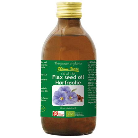 Oil of life Hørfrø Ø ren 250 ml