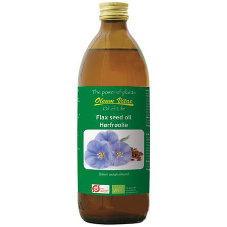 Oil of life Hørfrø Olie ren Ø 500 ml