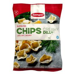 Chips m. dild glutenfri Semper 45 g