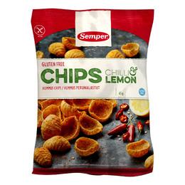 Chips m. chili & lemon glutenfri Semper 45 g