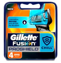 Gillette Fusion Proshield Blå Manuel blade 4 stk.