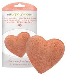 The Konjac Sponge - Heart Pink