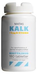 Matas Striber Matas Kalk + 5 µg D-vitamin 180 tabl.