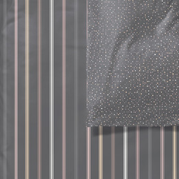 Södahl Freckles Stripe Sengetøj 140 x 200 cm Grå