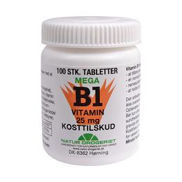 Mega B1 vitamin 25 mg 100 tab