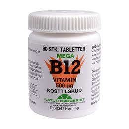 B12 mega vitamin 500 ug 60 tab