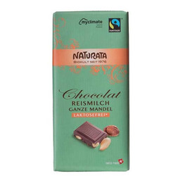 Chokolade med mandel laktosefri Ø Naturata 100 g