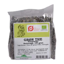 Grøn te gunpowder Ø 100 g