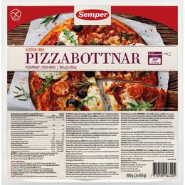 Pizzabunde glutenfri Semper indh. 2 stk. 300 g