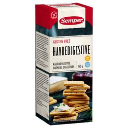 Kiks digestive havre glutenfri Semper 150 g