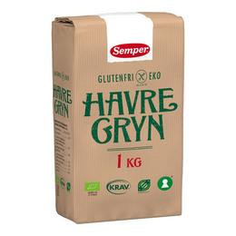 Havregryn glutenfri Øko Semper