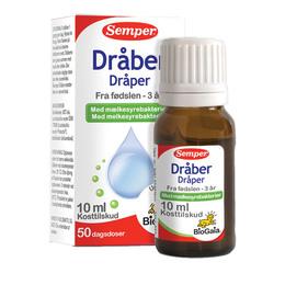 Semper BioGaia mælkesyrebakterier dråber 10 ml