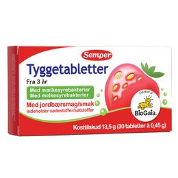 Semper BioGaia mælkesyrebakterier tyggetabl 30 stk