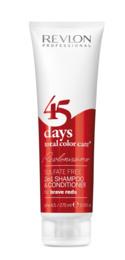 Revlon 45 Brave Reds  2in1 Shampoo 275 ml