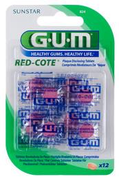 GUM Red Cote plakkontrol 12 farvetabletter