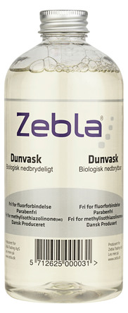 Zebla Dunvask uden Parfume 500 ml