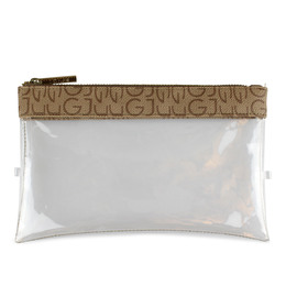 Gillian Jones Check in bag med Logo, beige