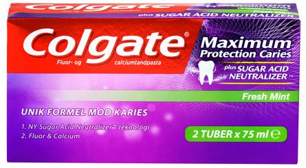Colgate Maximum Protection Caries tandpasta 2-pak