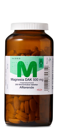 Magnesia DAK 500 mg 250 tabl.