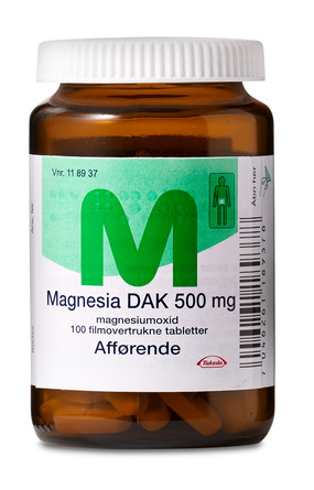 Magnesia DAK 500 mg 100 stk.