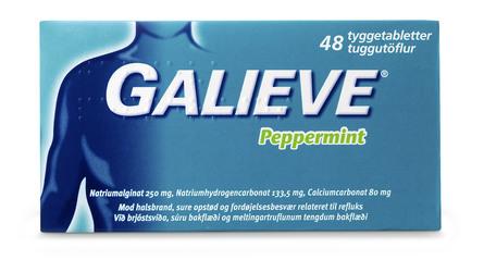 Galieve Peppermint tyggetablet 48 stk