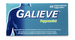 Galieve Peppermint tyggetablet 48 stk