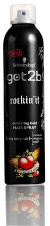 Schwarzkopf got2b rockin'it outlasting hold HAIR SPRAY