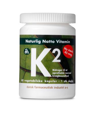 Dansk Farmaceutisk Industri Naturlig Natto Vitamin K2 60 kapsler