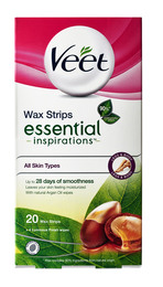 Veet Legs Cold Wax Strips Essentials 20 stk