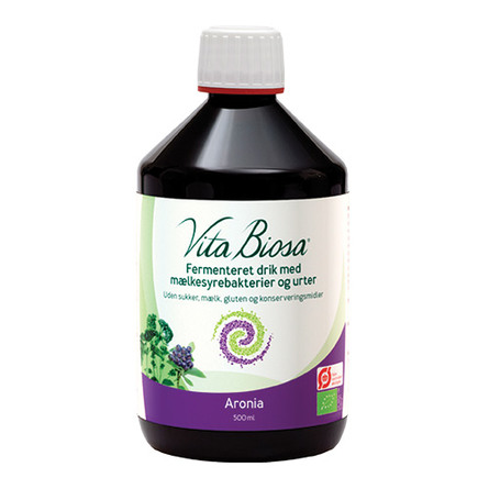 Vita Biosa Økologisk Fermenteret Drik Med Mælkesyrebakterier- Urter - Bær 500 ml