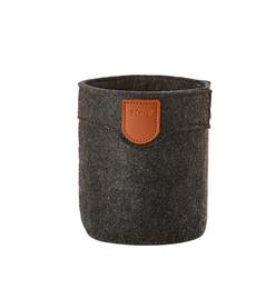 Zone filt kurv, dark grey, 10x12 cm