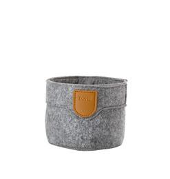 Zone filt kurv, grey, 10x8 cm