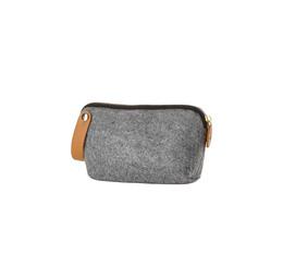 Zone filt kosmetikpung, Grey L:17 X W:5X H12 cm