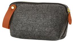 Zone filt kosmetikpung, Dark Grey, L:17 X W:5X H12