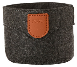 Zone filt kurv, dark grey, 10x8 cm