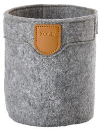 Zone filt kurv, grey, 10x12 cm