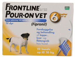 Frontline Pour-on Vet. 0-10 kg 6 x 0,67 ml
