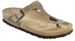 Birkenstock Gizeh Lea Tobacco Brown Str. 38