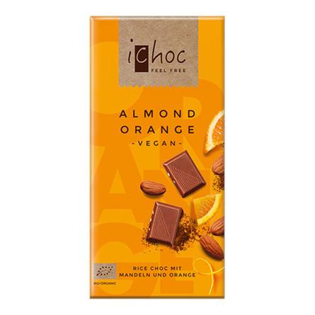 ichoc Ichok almond orange Øko 80 gr.