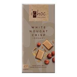 ichoc Ichok white nougat crisp Øko 80 gr.
