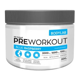 BodyLab Pre-workout med BCAA Blue Raspberry 200g