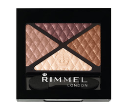 Rimmel Glam'Eyes Quad Øjenskygge 002 Smokey Brown