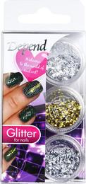 Depend negle Decoration Glitter sølv/guld/sølv