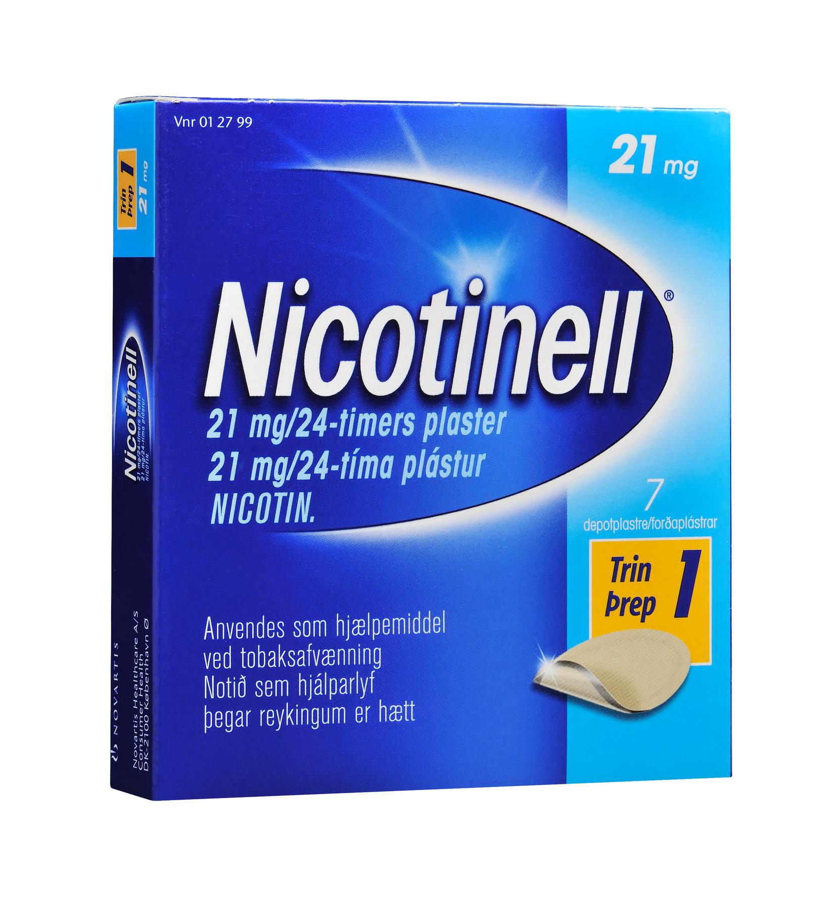nicotinell plaster pris