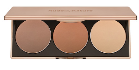 Nude by Nature Contour & Highlight Trio Palette Medium